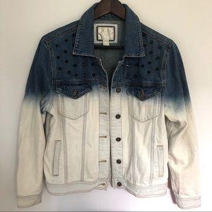 Forever 21 studded ombré denim jacket, size Medium